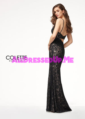 Colette - CL18204 - All Dressed Up, Prom Dress - - Dresses Two Piece Cut Out Sweetheart Halter Low Back High Neck Print Beaded Chiffon Jersey Fitted Sexy Satin Lace Jeweled Sparkle Shimmer Sleeveless Stunning Gorgeous Modest See Through Transparent Glitter Special Occasions Event Chattanooga Hixson Shops Boutiques Tennessee TN Georgia GA MSRP Lowest Prices Sale Discount