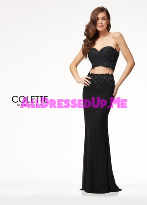 Colette - CL18206 - All Dressed Up, Prom Dress - - Dresses Two Piece Cut Out Sweetheart Halter Low Back High Neck Print Beaded Chiffon Jersey Fitted Sexy Satin Lace Jeweled Sparkle Shimmer Sleeveless Stunning Gorgeous Modest See Through Transparent Glitter Special Occasions Event Chattanooga Hixson Shops Boutiques Tennessee TN Georgia GA MSRP Lowest Prices Sale Discount