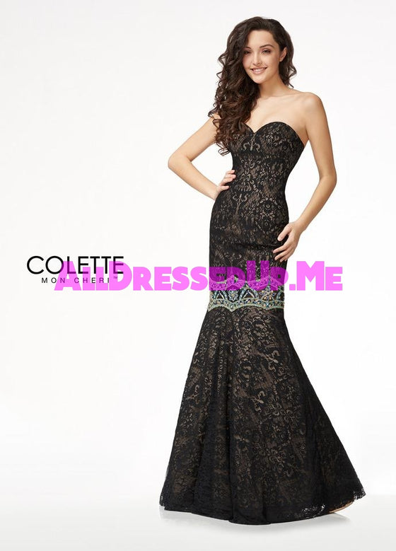 Colette - CL18208 - All Dressed Up, Prom Dress - - Dresses Two Piece Cut Out Sweetheart Halter Low Back High Neck Print Beaded Chiffon Jersey Fitted Sexy Satin Lace Jeweled Sparkle Shimmer Sleeveless Stunning Gorgeous Modest See Through Transparent Glitter Special Occasions Event Chattanooga Hixson Shops Boutiques Tennessee TN Georgia GA MSRP Lowest Prices Sale Discount