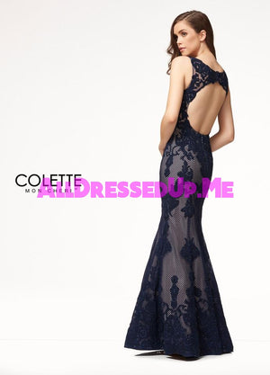Colette - CL18209 - All Dressed Up, Prom Dress - - Dresses Two Piece Cut Out Sweetheart Halter Low Back High Neck Print Beaded Chiffon Jersey Fitted Sexy Satin Lace Jeweled Sparkle Shimmer Sleeveless Stunning Gorgeous Modest See Through Transparent Glitter Special Occasions Event Chattanooga Hixson Shops Boutiques Tennessee TN Georgia GA MSRP Lowest Prices Sale Discount