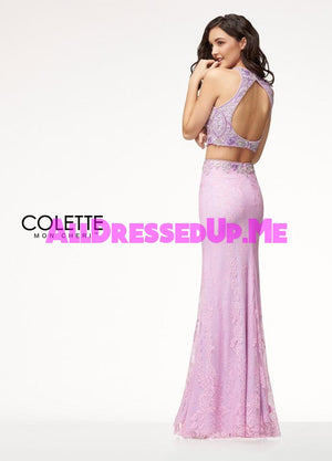 Colette - CL18211 - All Dressed Up, Prom Dress - - Dresses Two Piece Cut Out Sweetheart Halter Low Back High Neck Print Beaded Chiffon Jersey Fitted Sexy Satin Lace Jeweled Sparkle Shimmer Sleeveless Stunning Gorgeous Modest See Through Transparent Glitter Special Occasions Event Chattanooga Hixson Shops Boutiques Tennessee TN Georgia GA MSRP Lowest Prices Sale Discount