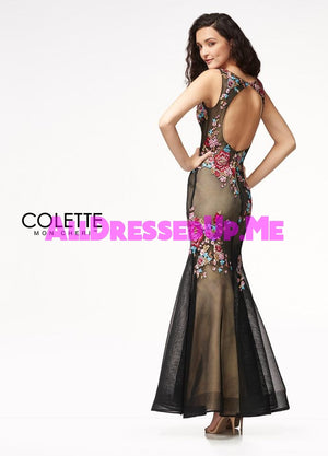 Colette - CL18212 - All Dressed Up, Prom Dress - - Dresses Two Piece Cut Out Sweetheart Halter Low Back High Neck Print Beaded Chiffon Jersey Fitted Sexy Satin Lace Jeweled Sparkle Shimmer Sleeveless Stunning Gorgeous Modest See Through Transparent Glitter Special Occasions Event Chattanooga Hixson Shops Boutiques Tennessee TN Georgia GA MSRP Lowest Prices Sale Discount