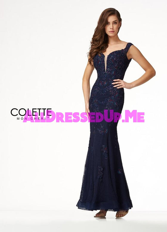 Colette - CL18222 - All Dressed Up, Prom Dress - - Dresses Two Piece Cut Out Sweetheart Halter Low Back High Neck Print Beaded Chiffon Jersey Fitted Sexy Satin Lace Jeweled Sparkle Shimmer Sleeveless Stunning Gorgeous Modest See Through Transparent Glitter Special Occasions Event Chattanooga Hixson Shops Boutiques Tennessee TN Georgia GA MSRP Lowest Prices Sale Discount