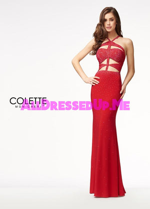 Colette - CL18227 - All Dressed Up, Prom Dress - - Dresses Two Piece Cut Out Sweetheart Halter Low Back High Neck Print Beaded Chiffon Jersey Fitted Sexy Satin Lace Jeweled Sparkle Shimmer Sleeveless Stunning Gorgeous Modest See Through Transparent Glitter Special Occasions Event Chattanooga Hixson Shops Boutiques Tennessee TN Georgia GA MSRP Lowest Prices Sale Discount