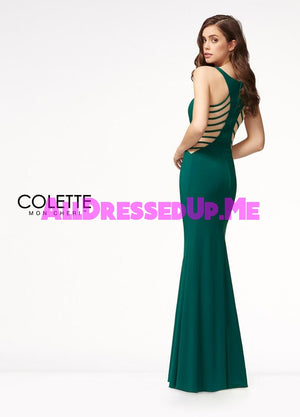 Colette - CL18230 - All Dressed Up, Prom Dress - - Dresses Two Piece Cut Out Sweetheart Halter Low Back High Neck Print Beaded Chiffon Jersey Fitted Sexy Satin Lace Jeweled Sparkle Shimmer Sleeveless Stunning Gorgeous Modest See Through Transparent Glitter Special Occasions Event Chattanooga Hixson Shops Boutiques Tennessee TN Georgia GA MSRP Lowest Prices Sale Discount