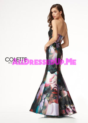 Colette - CL18233 - All Dressed Up, Prom Dress - - Dresses Two Piece Cut Out Sweetheart Halter Low Back High Neck Print Beaded Chiffon Jersey Fitted Sexy Satin Lace Jeweled Sparkle Shimmer Sleeveless Stunning Gorgeous Modest See Through Transparent Glitter Special Occasions Event Chattanooga Hixson Shops Boutiques Tennessee TN Georgia GA MSRP Lowest Prices Sale Discount
