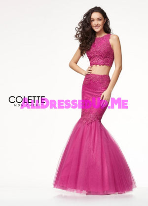 Colette - CL18235 - All Dressed Up, Prom Dress - - Dresses Two Piece Cut Out Sweetheart Halter Low Back High Neck Print Beaded Chiffon Jersey Fitted Sexy Satin Lace Jeweled Sparkle Shimmer Sleeveless Stunning Gorgeous Modest See Through Transparent Glitter Special Occasions Event Chattanooga Hixson Shops Boutiques Tennessee TN Georgia GA MSRP Lowest Prices Sale Discount