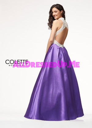 Colette - CL18237 - All Dressed Up, Prom Dress - - Dresses Two Piece Cut Out Sweetheart Halter Low Back High Neck Print Beaded Chiffon Jersey Fitted Sexy Satin Lace Jeweled Sparkle Shimmer Sleeveless Stunning Gorgeous Modest See Through Transparent Glitter Special Occasions Event Chattanooga Hixson Shops Boutiques Tennessee TN Georgia GA MSRP Lowest Prices Sale Discount
