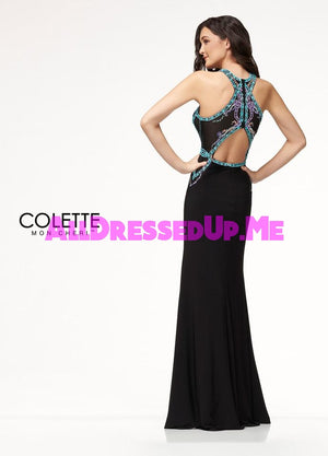 Colette - CL18238 - All Dressed Up, Prom Dress - - Dresses Two Piece Cut Out Sweetheart Halter Low Back High Neck Print Beaded Chiffon Jersey Fitted Sexy Satin Lace Jeweled Sparkle Shimmer Sleeveless Stunning Gorgeous Modest See Through Transparent Glitter Special Occasions Event Chattanooga Hixson Shops Boutiques Tennessee TN Georgia GA MSRP Lowest Prices Sale Discount