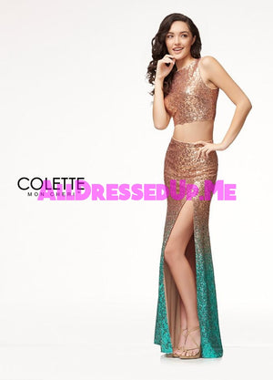 Colette - CL18240 - All Dressed Up, Prom Dress - - Dresses Two Piece Cut Out Sweetheart Halter Low Back High Neck Print Beaded Chiffon Jersey Fitted Sexy Satin Lace Jeweled Sparkle Shimmer Sleeveless Stunning Gorgeous Modest See Through Transparent Glitter Special Occasions Event Chattanooga Hixson Shops Boutiques Tennessee TN Georgia GA MSRP Lowest Prices Sale Discount