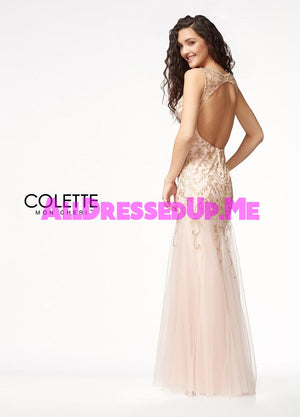Colette - CL18248 - All Dressed Up, Prom Dress - - Dresses Two Piece Cut Out Sweetheart Halter Low Back High Neck Print Beaded Chiffon Jersey Fitted Sexy Satin Lace Jeweled Sparkle Shimmer Sleeveless Stunning Gorgeous Modest See Through Transparent Glitter Special Occasions Event Chattanooga Hixson Shops Boutiques Tennessee TN Georgia GA MSRP Lowest Prices Sale Discount