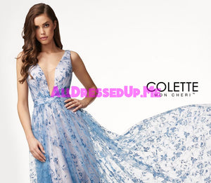 Colette - CL18250 - All Dressed Up, Prom Dress - - Dresses Two Piece Cut Out Sweetheart Halter Low Back High Neck Print Beaded Chiffon Jersey Fitted Sexy Satin Lace Jeweled Sparkle Shimmer Sleeveless Stunning Gorgeous Modest See Through Transparent Glitter Special Occasions Event Chattanooga Hixson Shops Boutiques Tennessee TN Georgia GA MSRP Lowest Prices Sale Discount