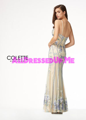 Colette - CL18251 - All Dressed Up, Prom Dress - - Dresses Two Piece Cut Out Sweetheart Halter Low Back High Neck Print Beaded Chiffon Jersey Fitted Sexy Satin Lace Jeweled Sparkle Shimmer Sleeveless Stunning Gorgeous Modest See Through Transparent Glitter Special Occasions Event Chattanooga Hixson Shops Boutiques Tennessee TN Georgia GA MSRP Lowest Prices Sale Discount