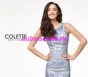 Colette - CL18252 - All Dressed Up, Prom Dress - - Dresses Two Piece Cut Out Sweetheart Halter Low Back High Neck Print Beaded Chiffon Jersey Fitted Sexy Satin Lace Jeweled Sparkle Shimmer Sleeveless Stunning Gorgeous Modest See Through Transparent Glitter Special Occasions Event Chattanooga Hixson Shops Boutiques Tennessee TN Georgia GA MSRP Lowest Prices Sale Discount