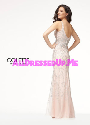 Colette - CL18253 - All Dressed Up, Prom Dress - - Dresses Two Piece Cut Out Sweetheart Halter Low Back High Neck Print Beaded Chiffon Jersey Fitted Sexy Satin Lace Jeweled Sparkle Shimmer Sleeveless Stunning Gorgeous Modest See Through Transparent Glitter Special Occasions Event Chattanooga Hixson Shops Boutiques Tennessee TN Georgia GA MSRP Lowest Prices Sale Discount