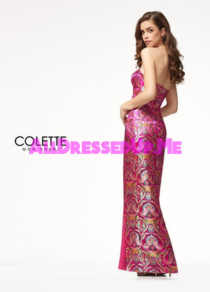 Colette - CL18266 - All Dressed Up, Prom Dress - - Dresses Two Piece Cut Out Sweetheart Halter Low Back High Neck Print Beaded Chiffon Jersey Fitted Sexy Satin Lace Jeweled Sparkle Shimmer Sleeveless Stunning Gorgeous Modest See Through Transparent Glitter Special Occasions Event Chattanooga Hixson Shops Boutiques Tennessee TN Georgia GA MSRP Lowest Prices Sale Discount