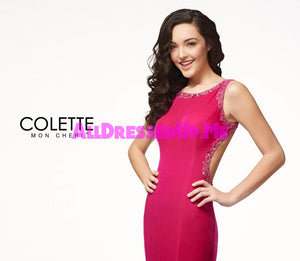 Colette - CL18267 - All Dressed Up, Prom Dress - - Dresses Two Piece Cut Out Sweetheart Halter Low Back High Neck Print Beaded Chiffon Jersey Fitted Sexy Satin Lace Jeweled Sparkle Shimmer Sleeveless Stunning Gorgeous Modest See Through Transparent Glitter Special Occasions Event Chattanooga Hixson Shops Boutiques Tennessee TN Georgia GA MSRP Lowest Prices Sale Discount