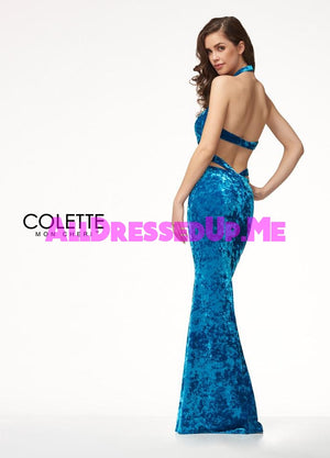 Colette - CL18268 - All Dressed Up, Prom Dress - - Dresses Two Piece Cut Out Sweetheart Halter Low Back High Neck Print Beaded Chiffon Jersey Fitted Sexy Satin Lace Jeweled Sparkle Shimmer Sleeveless Stunning Gorgeous Modest See Through Transparent Glitter Special Occasions Event Chattanooga Hixson Shops Boutiques Tennessee TN Georgia GA MSRP Lowest Prices Sale Discount