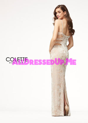 Colette - CL18271 - All Dressed Up, Prom Dress - - Dresses Two Piece Cut Out Sweetheart Halter Low Back High Neck Print Beaded Chiffon Jersey Fitted Sexy Satin Lace Jeweled Sparkle Shimmer Sleeveless Stunning Gorgeous Modest See Through Transparent Glitter Special Occasions Event Chattanooga Hixson Shops Boutiques Tennessee TN Georgia GA MSRP Lowest Prices Sale Discount