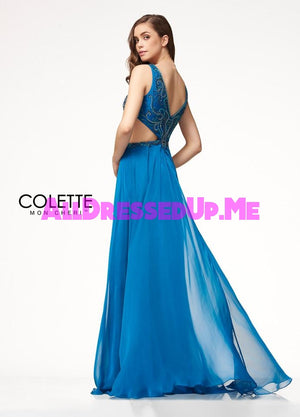 Colette - CL18277 - All Dressed Up, Prom Dress - - Dresses Two Piece Cut Out Sweetheart Halter Low Back High Neck Print Beaded Chiffon Jersey Fitted Sexy Satin Lace Jeweled Sparkle Shimmer Sleeveless Stunning Gorgeous Modest See Through Transparent Glitter Special Occasions Event Chattanooga Hixson Shops Boutiques Tennessee TN Georgia GA MSRP Lowest Prices Sale Discount