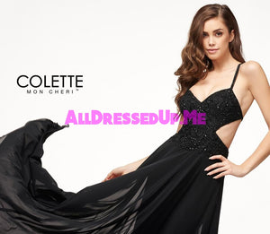Colette - CL18278 - All Dressed Up, Prom Dress - - Dresses Two Piece Cut Out Sweetheart Halter Low Back High Neck Print Beaded Chiffon Jersey Fitted Sexy Satin Lace Jeweled Sparkle Shimmer Sleeveless Stunning Gorgeous Modest See Through Transparent Glitter Special Occasions Event Chattanooga Hixson Shops Boutiques Tennessee TN Georgia GA MSRP Lowest Prices Sale Discount