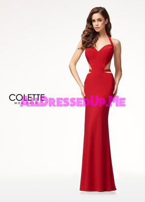 Colette - CL18279 - All Dressed Up, Prom Dress - - Dresses Two Piece Cut Out Sweetheart Halter Low Back High Neck Print Beaded Chiffon Jersey Fitted Sexy Satin Lace Jeweled Sparkle Shimmer Sleeveless Stunning Gorgeous Modest See Through Transparent Glitter Special Occasions Event Chattanooga Hixson Shops Boutiques Tennessee TN Georgia GA MSRP Lowest Prices Sale Discount