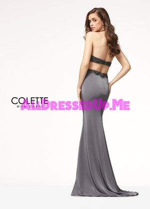 Colette - CL18281 - All Dressed Up, Prom Dress - - Dresses Two Piece Cut Out Sweetheart Halter Low Back High Neck Print Beaded Chiffon Jersey Fitted Sexy Satin Lace Jeweled Sparkle Shimmer Sleeveless Stunning Gorgeous Modest See Through Transparent Glitter Special Occasions Event Chattanooga Hixson Shops Boutiques Tennessee TN Georgia GA MSRP Lowest Prices Sale Discount