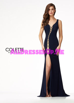 Colette - CL18287 - All Dressed Up, Prom Dress - - Dresses Two Piece Cut Out Sweetheart Halter Low Back High Neck Print Beaded Chiffon Jersey Fitted Sexy Satin Lace Jeweled Sparkle Shimmer Sleeveless Stunning Gorgeous Modest See Through Transparent Glitter Special Occasions Event Chattanooga Hixson Shops Boutiques Tennessee TN Georgia GA MSRP Lowest Prices Sale Discount