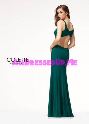 Colette - CL18288 - All Dressed Up, Prom Dress - - Dresses Two Piece Cut Out Sweetheart Halter Low Back High Neck Print Beaded Chiffon Jersey Fitted Sexy Satin Lace Jeweled Sparkle Shimmer Sleeveless Stunning Gorgeous Modest See Through Transparent Glitter Special Occasions Event Chattanooga Hixson Shops Boutiques Tennessee TN Georgia GA MSRP Lowest Prices Sale Discount