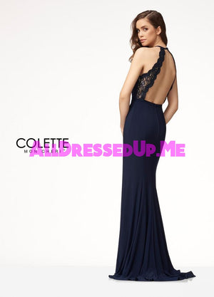 Colette - CL18289 - All Dressed Up, Prom Dress - - Dresses Two Piece Cut Out Sweetheart Halter Low Back High Neck Print Beaded Chiffon Jersey Fitted Sexy Satin Lace Jeweled Sparkle Shimmer Sleeveless Stunning Gorgeous Modest See Through Transparent Glitter Special Occasions Event Chattanooga Hixson Shops Boutiques Tennessee TN Georgia GA MSRP Lowest Prices Sale Discount