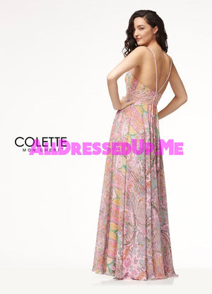 Colette - CL18293 - All Dressed Up, Prom Dress - - Dresses Two Piece Cut Out Sweetheart Halter Low Back High Neck Print Beaded Chiffon Jersey Fitted Sexy Satin Lace Jeweled Sparkle Shimmer Sleeveless Stunning Gorgeous Modest See Through Transparent Glitter Special Occasions Event Chattanooga Hixson Shops Boutiques Tennessee TN Georgia GA MSRP Lowest Prices Sale Discount