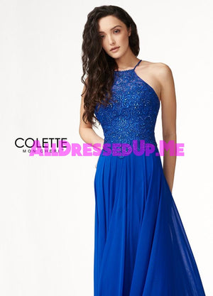 Colette - CL18296 - All Dressed Up, Prom Dress - - Dresses Two Piece Cut Out Sweetheart Halter Low Back High Neck Print Beaded Chiffon Jersey Fitted Sexy Satin Lace Jeweled Sparkle Shimmer Sleeveless Stunning Gorgeous Modest See Through Transparent Glitter Special Occasions Event Chattanooga Hixson Shops Boutiques Tennessee TN Georgia GA MSRP Lowest Prices Sale Discount