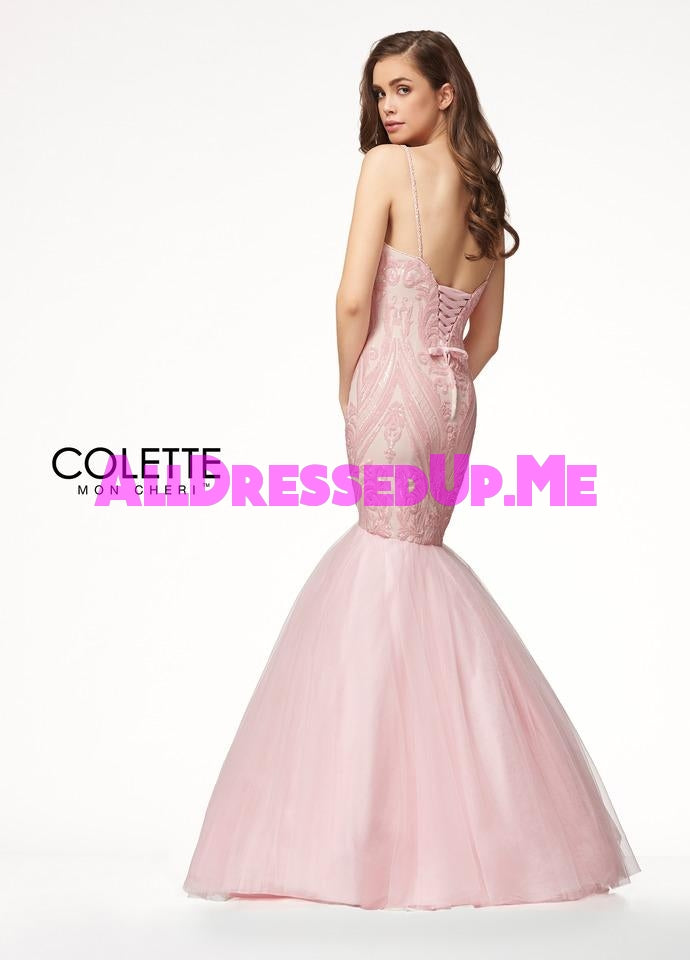 Colette - CL18297 - All Dressed Up, Prom Dress - - Dresses Two Piece Cut Out Sweetheart Halter Low Back High Neck Print Beaded Chiffon Jersey Fitted Sexy Satin Lace Jeweled Sparkle Shimmer Sleeveless Stunning Gorgeous Modest See Through Transparent Glitter Special Occasions Event Chattanooga Hixson Shops Boutiques Tennessee TN Georgia GA MSRP Lowest Prices Sale Discount
