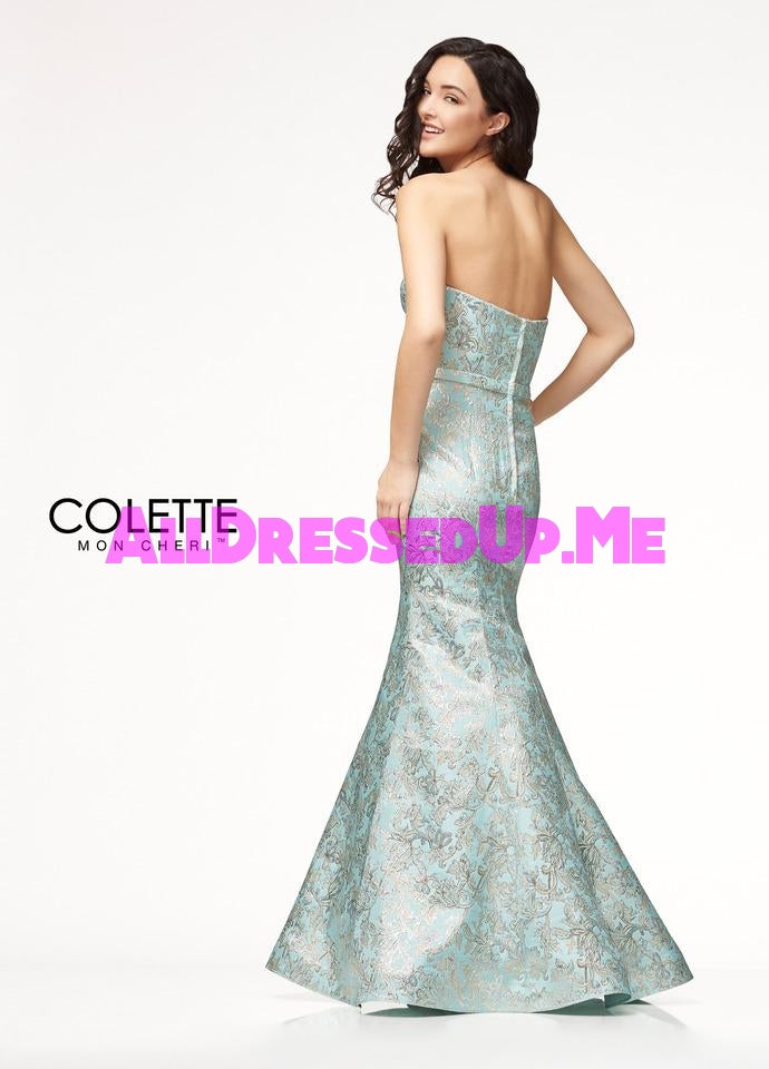 Colette - CL18301 - All Dressed Up, Prom Dress - - Dresses Two Piece Cut Out Sweetheart Halter Low Back High Neck Print Beaded Chiffon Jersey Fitted Sexy Satin Lace Jeweled Sparkle Shimmer Sleeveless Stunning Gorgeous Modest See Through Transparent Glitter Special Occasions Event Chattanooga Hixson Shops Boutiques Tennessee TN Georgia GA MSRP Lowest Prices Sale Discount