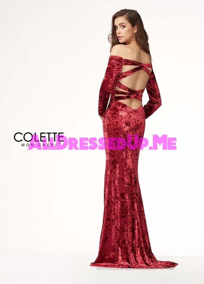 Colette - CL18313 - All Dressed Up, Prom Dress - - Dresses Two Piece Cut Out Sweetheart Halter Low Back High Neck Print Beaded Chiffon Jersey Fitted Sexy Satin Lace Jeweled Sparkle Shimmer Sleeveless Stunning Gorgeous Modest See Through Transparent Glitter Special Occasions Event Chattanooga Hixson Shops Boutiques Tennessee TN Georgia GA MSRP Lowest Prices Sale Discount
