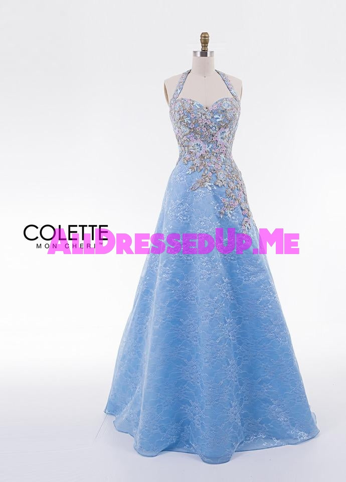 Colette - CL18320 - All Dressed Up, Prom Dress - - Dresses Two Piece Cut Out Sweetheart Halter Low Back High Neck Print Beaded Chiffon Jersey Fitted Sexy Satin Lace Jeweled Sparkle Shimmer Sleeveless Stunning Gorgeous Modest See Through Transparent Glitter Special Occasions Event Chattanooga Hixson Shops Boutiques Tennessee TN Georgia GA MSRP Lowest Prices Sale Discount
