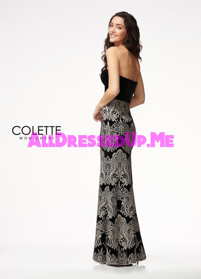 Colette - CL21702 - All Dressed Up, Prom Dress - - Dresses Two Piece Cut Out Sweetheart Halter Low Back High Neck Print Beaded Chiffon Jersey Fitted Sexy Satin Lace Jeweled Sparkle Shimmer Sleeveless Stunning Gorgeous Modest See Through Transparent Glitter Special Occasions Event Chattanooga Hixson Shops Boutiques Tennessee TN Georgia GA MSRP Lowest Prices Sale Discount