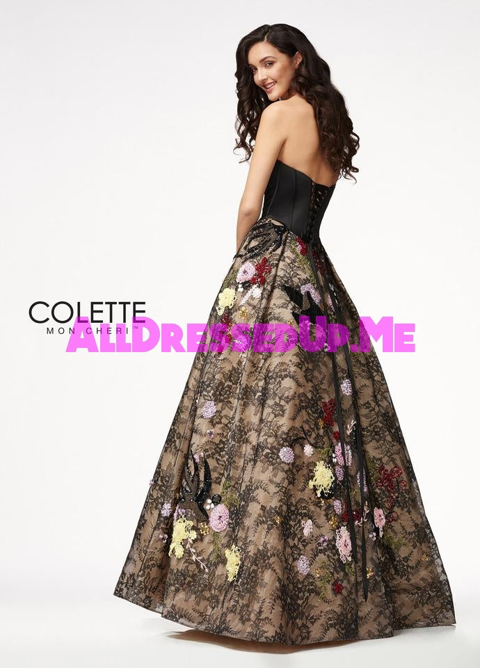 Colette - CL21706 - All Dressed Up, Prom Dress - - Dresses Two Piece Cut Out Sweetheart Halter Low Back High Neck Print Beaded Chiffon Jersey Fitted Sexy Satin Lace Jeweled Sparkle Shimmer Sleeveless Stunning Gorgeous Modest See Through Transparent Glitter Special Occasions Event Chattanooga Hixson Shops Boutiques Tennessee TN Georgia GA MSRP Lowest Prices Sale Discount
