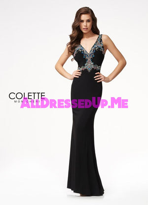 Colette - CL21707 - All Dressed Up, Prom Dress - - Dresses Two Piece Cut Out Sweetheart Halter Low Back High Neck Print Beaded Chiffon Jersey Fitted Sexy Satin Lace Jeweled Sparkle Shimmer Sleeveless Stunning Gorgeous Modest See Through Transparent Glitter Special Occasions Event Chattanooga Hixson Shops Boutiques Tennessee TN Georgia GA MSRP Lowest Prices Sale Discount