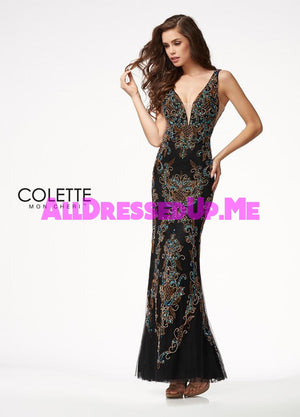 Colette - CL21708 - All Dressed Up, Prom Dress - - Dresses Two Piece Cut Out Sweetheart Halter Low Back High Neck Print Beaded Chiffon Jersey Fitted Sexy Satin Lace Jeweled Sparkle Shimmer Sleeveless Stunning Gorgeous Modest See Through Transparent Glitter Special Occasions Event Chattanooga Hixson Shops Boutiques Tennessee TN Georgia GA MSRP Lowest Prices Sale Discount