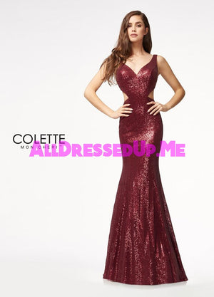 Colette - CL21709 - All Dressed Up, Prom Dress - - Dresses Two Piece Cut Out Sweetheart Halter Low Back High Neck Print Beaded Chiffon Jersey Fitted Sexy Satin Lace Jeweled Sparkle Shimmer Sleeveless Stunning Gorgeous Modest See Through Transparent Glitter Special Occasions Event Chattanooga Hixson Shops Boutiques Tennessee TN Georgia GA MSRP Lowest Prices Sale Discount