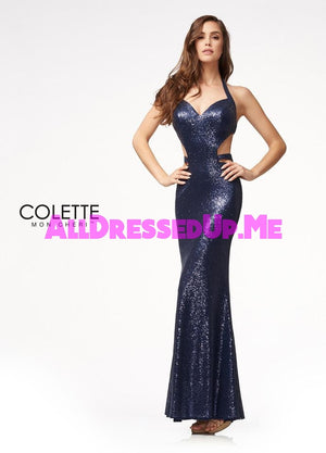 Colette - CL21710 - All Dressed Up, Prom Dress - - Dresses Two Piece Cut Out Sweetheart Halter Low Back High Neck Print Beaded Chiffon Jersey Fitted Sexy Satin Lace Jeweled Sparkle Shimmer Sleeveless Stunning Gorgeous Modest See Through Transparent Glitter Special Occasions Event Chattanooga Hixson Shops Boutiques Tennessee TN Georgia GA MSRP Lowest Prices Sale Discount