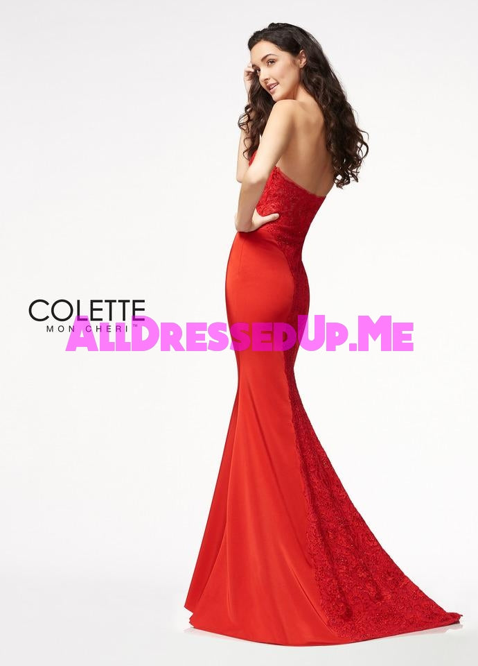 Colette - CL21711 - All Dressed Up, Prom Dress - - Dresses Two Piece Cut Out Sweetheart Halter Low Back High Neck Print Beaded Chiffon Jersey Fitted Sexy Satin Lace Jeweled Sparkle Shimmer Sleeveless Stunning Gorgeous Modest See Through Transparent Glitter Special Occasions Event Chattanooga Hixson Shops Boutiques Tennessee TN Georgia GA MSRP Lowest Prices Sale Discount