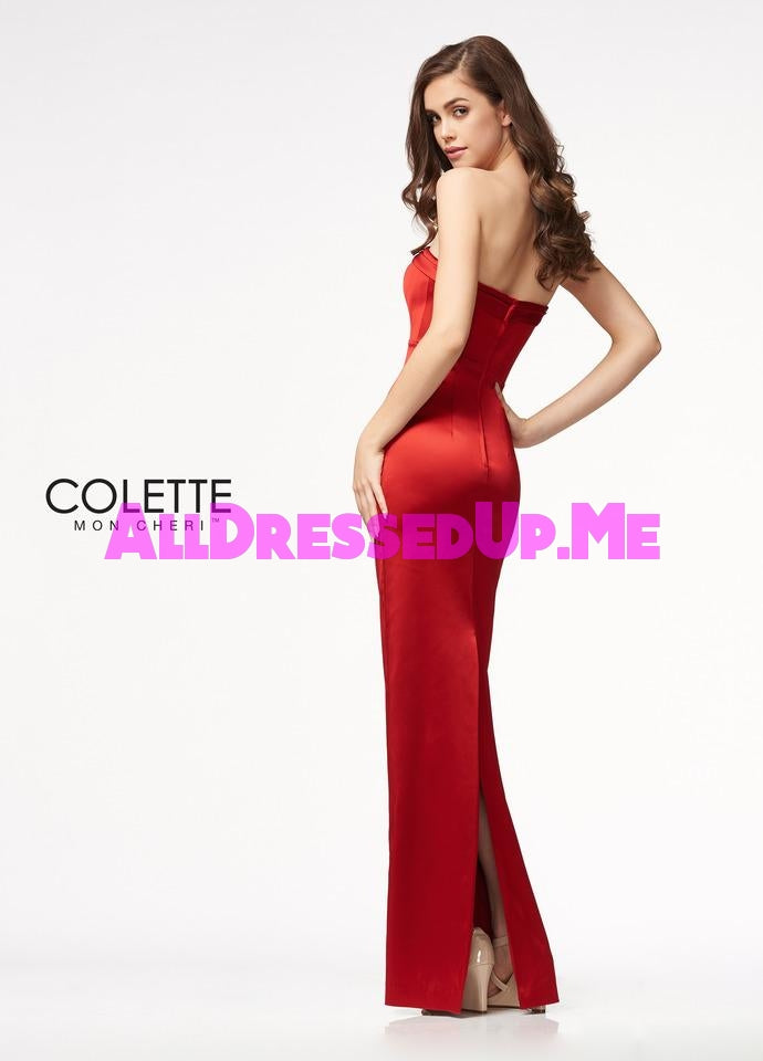 Colette - CL21715 - All Dressed Up, Prom Dress - - Dresses Two Piece Cut Out Sweetheart Halter Low Back High Neck Print Beaded Chiffon Jersey Fitted Sexy Satin Lace Jeweled Sparkle Shimmer Sleeveless Stunning Gorgeous Modest See Through Transparent Glitter Special Occasions Event Chattanooga Hixson Shops Boutiques Tennessee TN Georgia GA MSRP Lowest Prices Sale Discount