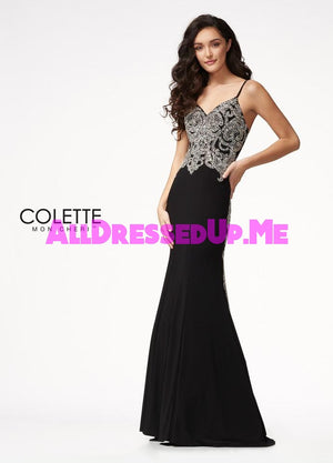 Colette - CL21720 - All Dressed Up, Prom Dress - - Dresses Two Piece Cut Out Sweetheart Halter Low Back High Neck Print Beaded Chiffon Jersey Fitted Sexy Satin Lace Jeweled Sparkle Shimmer Sleeveless Stunning Gorgeous Modest See Through Transparent Glitter Special Occasions Event Chattanooga Hixson Shops Boutiques Tennessee TN Georgia GA MSRP Lowest Prices Sale Discount