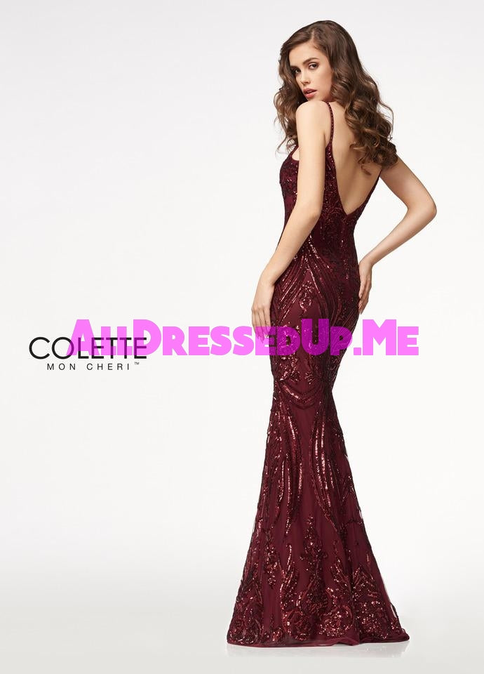 Colette - CL21722 - All Dressed Up, Prom Dress - - Dresses Two Piece Cut Out Sweetheart Halter Low Back High Neck Print Beaded Chiffon Jersey Fitted Sexy Satin Lace Jeweled Sparkle Shimmer Sleeveless Stunning Gorgeous Modest See Through Transparent Glitter Special Occasions Event Chattanooga Hixson Shops Boutiques Tennessee TN Georgia GA MSRP Lowest Prices Sale Discount