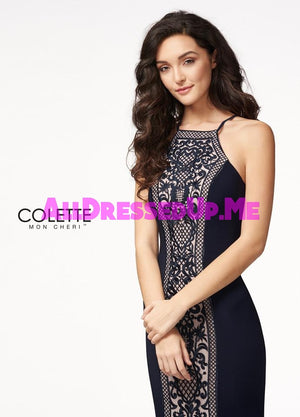 Colette - CL21723 - All Dressed Up, Prom Dress - - Dresses Two Piece Cut Out Sweetheart Halter Low Back High Neck Print Beaded Chiffon Jersey Fitted Sexy Satin Lace Jeweled Sparkle Shimmer Sleeveless Stunning Gorgeous Modest See Through Transparent Glitter Special Occasions Event Chattanooga Hixson Shops Boutiques Tennessee TN Georgia GA MSRP Lowest Prices Sale Discount