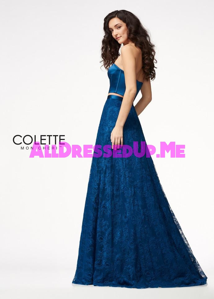 Colette - CL21726 - All Dressed Up, Prom Dress - - Dresses Two Piece Cut Out Sweetheart Halter Low Back High Neck Print Beaded Chiffon Jersey Fitted Sexy Satin Lace Jeweled Sparkle Shimmer Sleeveless Stunning Gorgeous Modest See Through Transparent Glitter Special Occasions Event Chattanooga Hixson Shops Boutiques Tennessee TN Georgia GA MSRP Lowest Prices Sale Discount