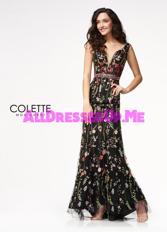 Colette - CL21730 - All Dressed Up, Prom Dress - - Dresses Two Piece Cut Out Sweetheart Halter Low Back High Neck Print Beaded Chiffon Jersey Fitted Sexy Satin Lace Jeweled Sparkle Shimmer Sleeveless Stunning Gorgeous Modest See Through Transparent Glitter Special Occasions Event Chattanooga Hixson Shops Boutiques Tennessee TN Georgia GA MSRP Lowest Prices Sale Discount