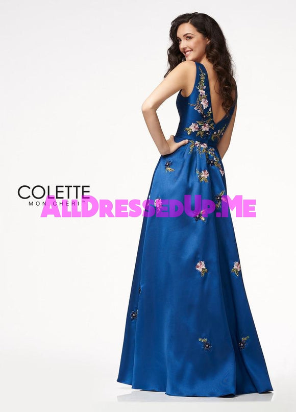 Colette - CL21731 - All Dressed Up, Prom Dress - - Dresses Two Piece Cut Out Sweetheart Halter Low Back High Neck Print Beaded Chiffon Jersey Fitted Sexy Satin Lace Jeweled Sparkle Shimmer Sleeveless Stunning Gorgeous Modest See Through Transparent Glitter Special Occasions Event Chattanooga Hixson Shops Boutiques Tennessee TN Georgia GA MSRP Lowest Prices Sale Discount